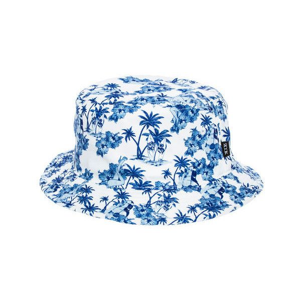 Rook The Aloha Floral Bucket Hat in White ( 30) ❤ liked on Polyvore  featuring men s fashion 69af3340b8c0