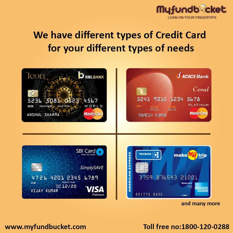 Pin by MyFund Bucket on Loans Types of credit cards