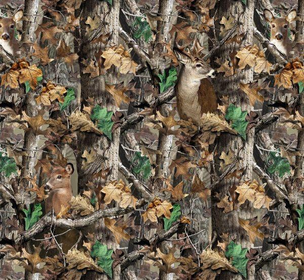 Realtree Camo Deer Camoflage Hunting Fleece Fabric Print