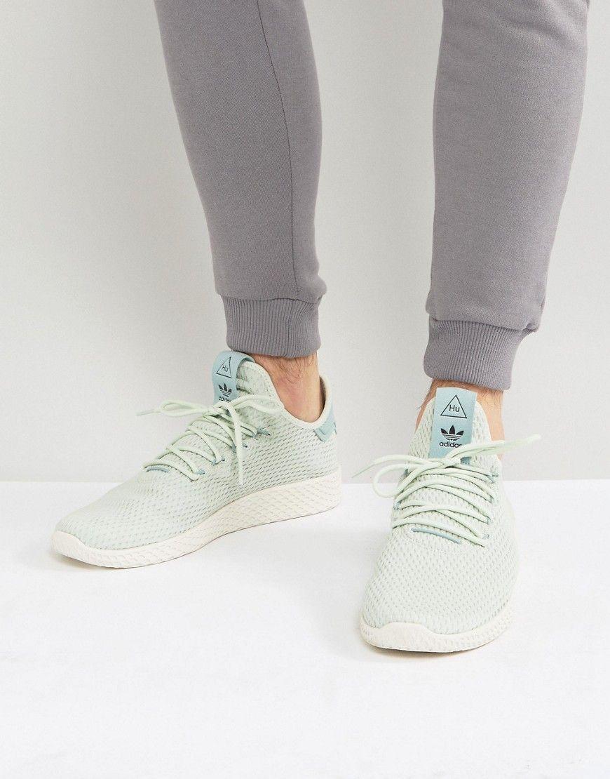 Adidas Originals X Pharrell Williams Tennis Hu Sneakers In Green Cp976 Sneakers Sneakers Men Fashion Adidas