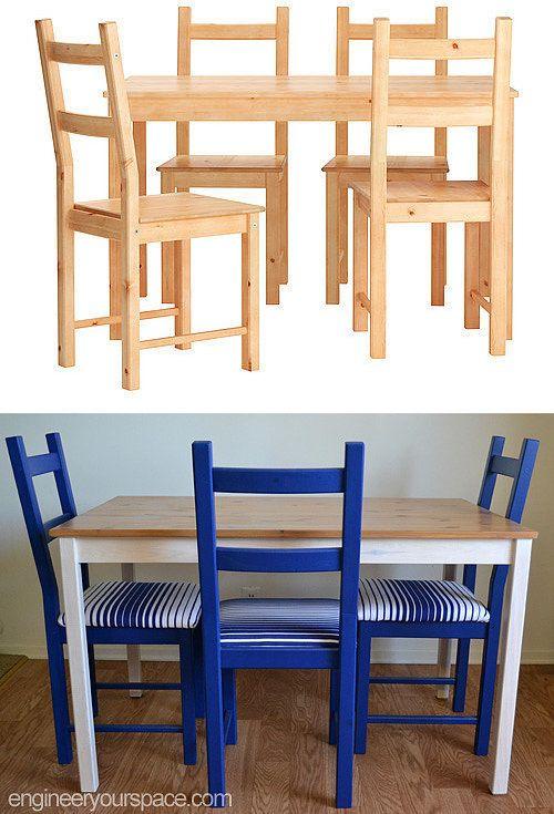 Transformer Des Chaises Ikea Et Une Table Pour Les Rendre Plus