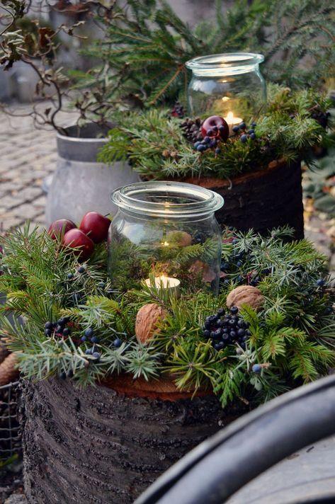 Hof 9: Auf den Baumstamm gekommen - ein DIY und noch viel mehr. #kerstideeën