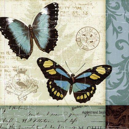 Butterfly Patchwork II by Pela Design art print