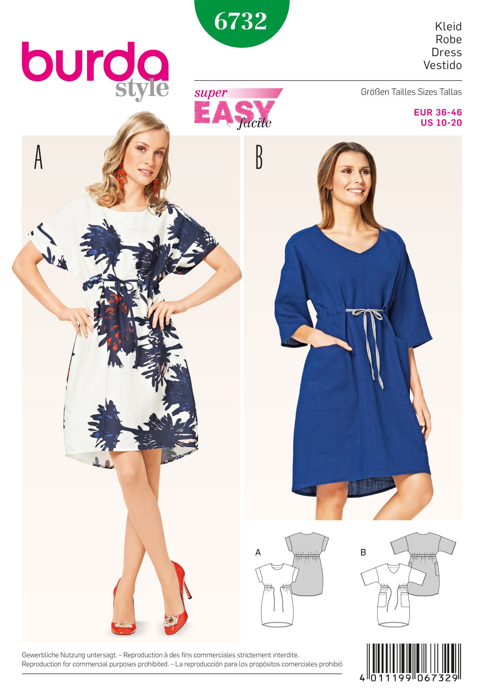 Burda Misses' Dress 6732