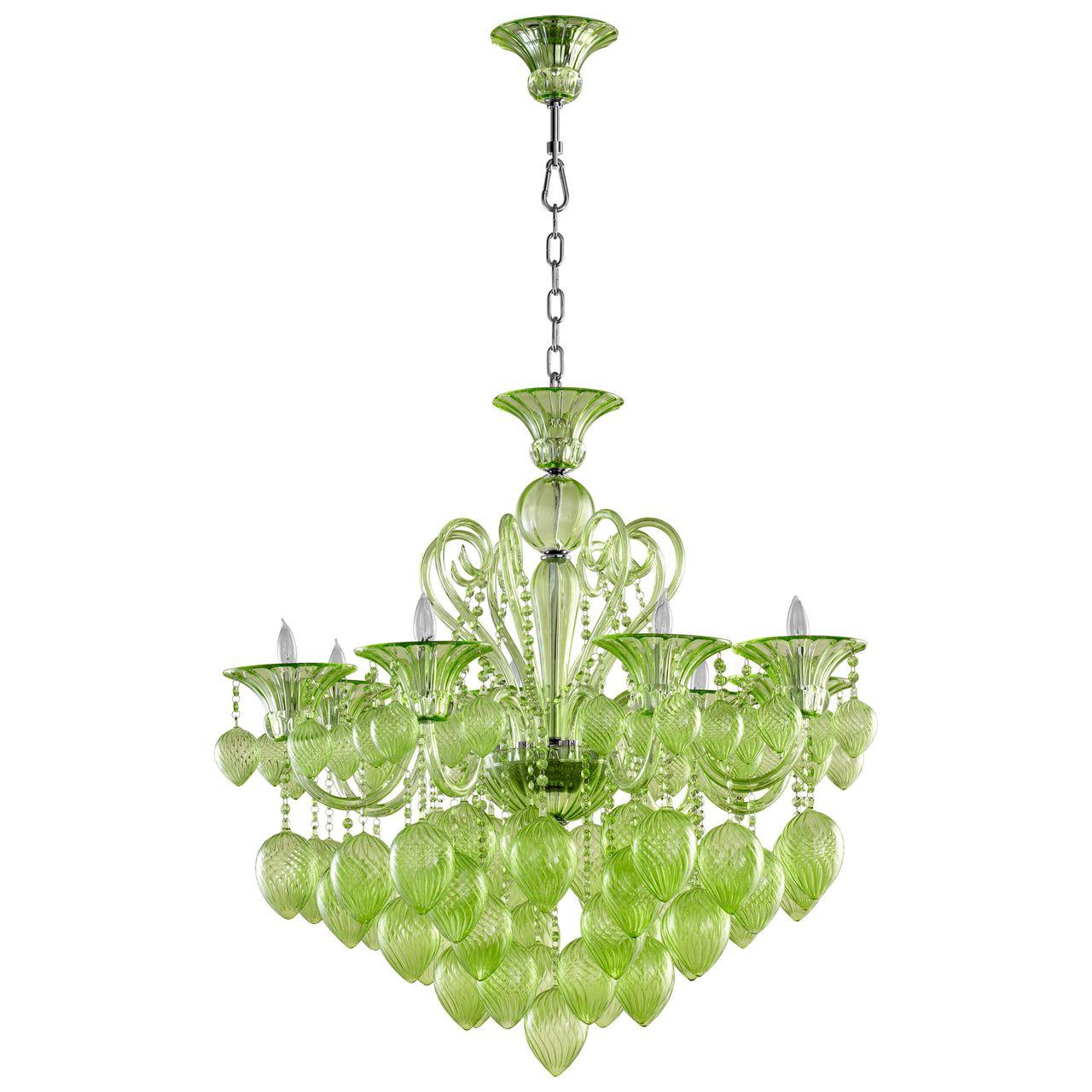 Bella vetro 8 light green chandelier green murano style glass bella vetro 8 light green chandelier green murano style glass arubaitofo Choice Image