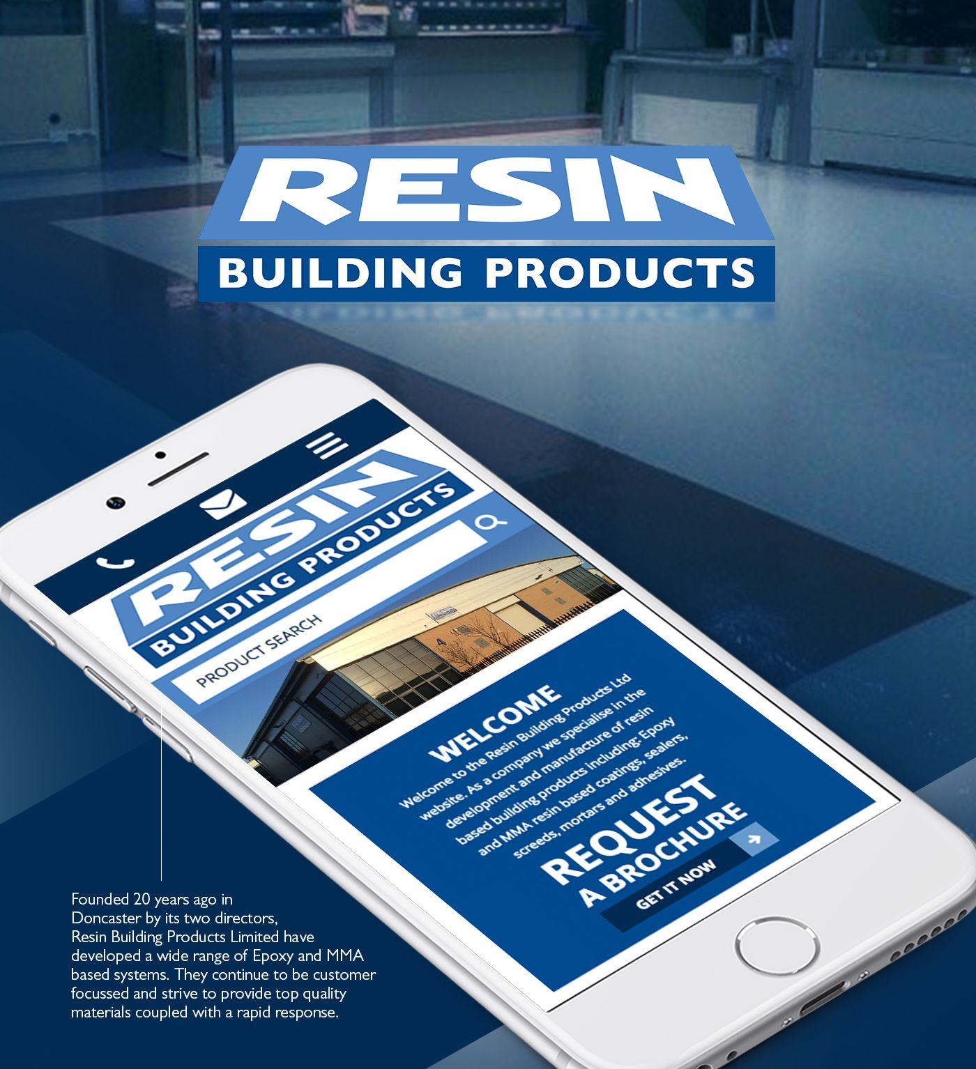 Resin Building Products Moirae Creative Agency On Behance Behance Graphicdesign Webdesign Mobilefriendly Web Design Building Resin