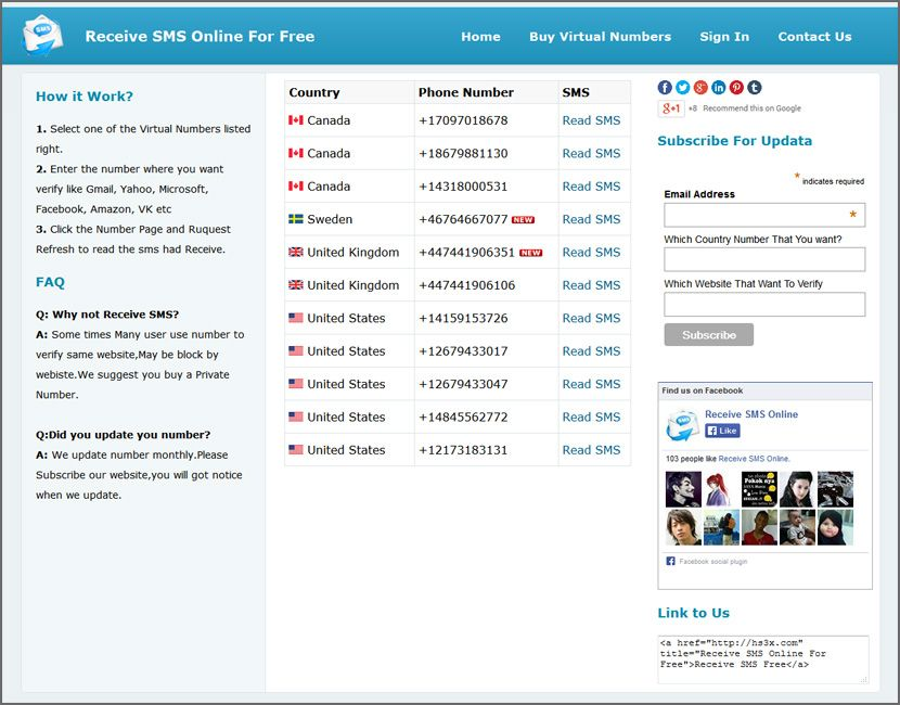 8 Websites To Receive Free SMS Via Virtual Numbers For
