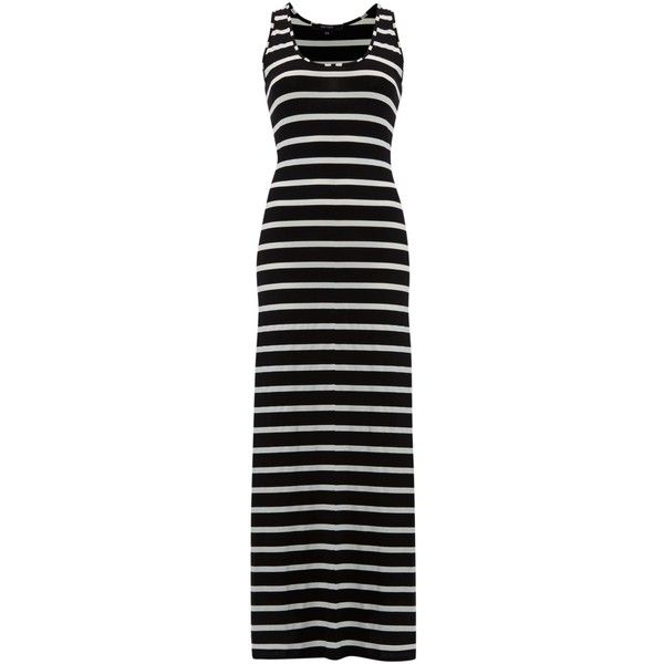 Therapy Wide Stripe Maxi Jersey Dress ($52) ❤ liked on Polyvore