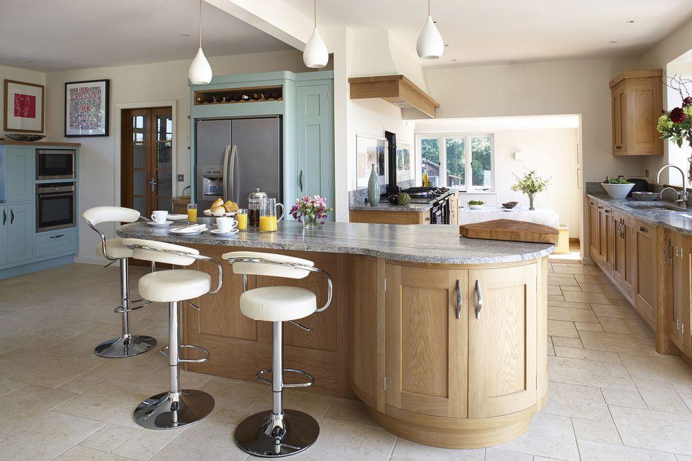 HandPainted Luxury Kitchen with Bespoke Kitchen Island