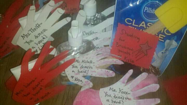 Teacher Gift Idea Hand Sanitizer With Hand Made Note You