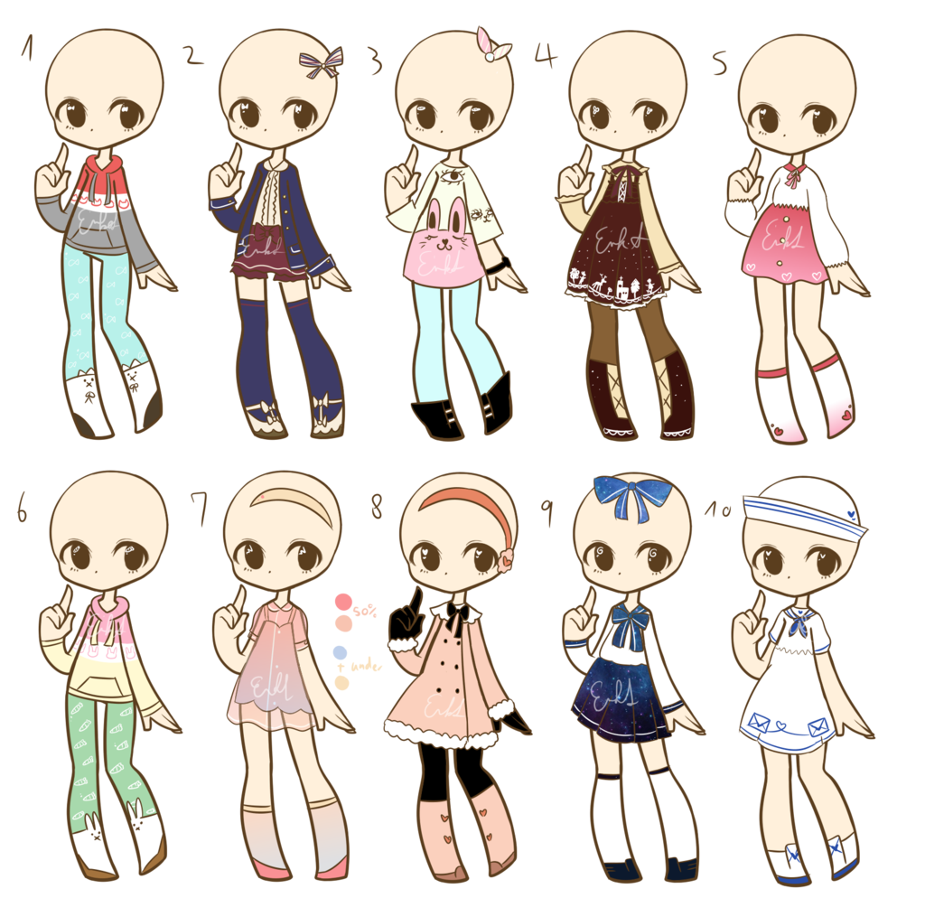 Outfit adopts batch 4 CLOSED by LukasBadopts.deviantart