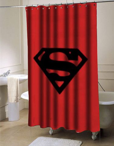 Superman Logo Shower Curtain Superman Shower Curtain Curtains
