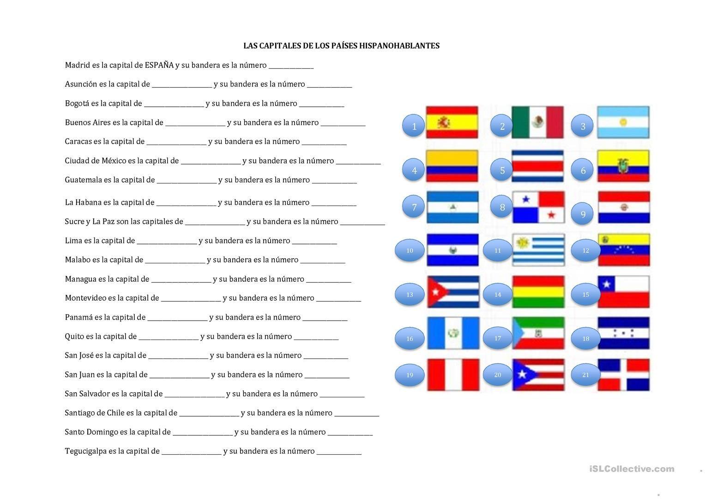 Atividades Paises E Nacionalidades Em Ingles