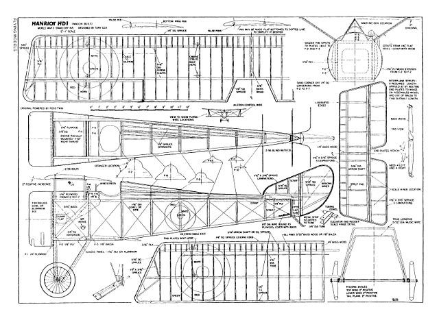 Balsa Model Airplane Plans Free Download | Projects to Try