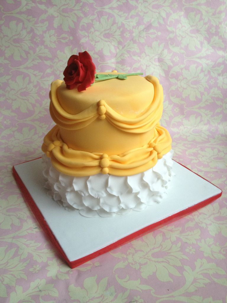 Beauty and the beast birthday cake by Cotswolds Finest Cakes