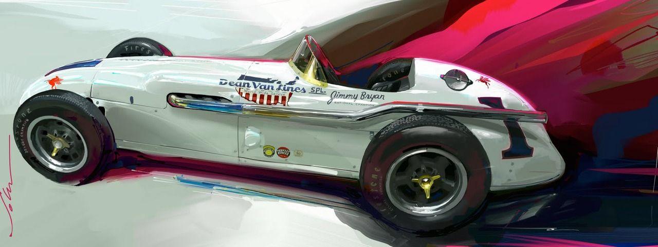 John Krsteski artwork. (via Hyundai Designer Paints Dynamic, Energetic Art | Petrolicious)
