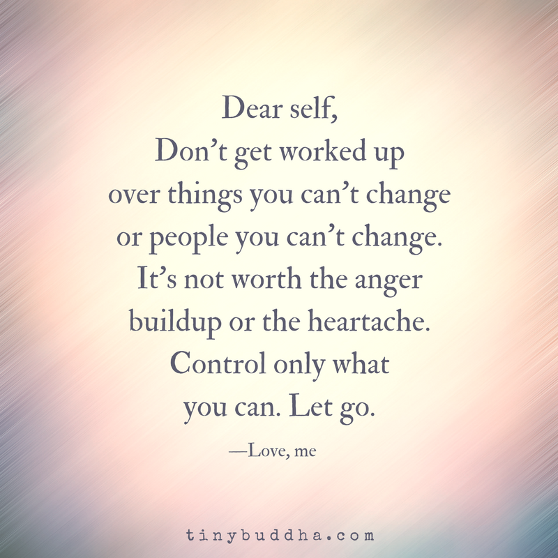 Control Only What You Can - Tiny Buddha