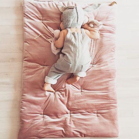 numero74 velvet dusty pink futon Photo taken by @little.home on Instagram