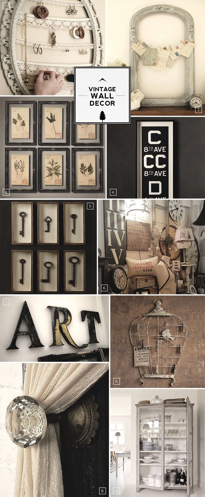 Vintage Wall Decor Ideas From Bird Cages To Designing With Frames Home Tree Atlas Walls