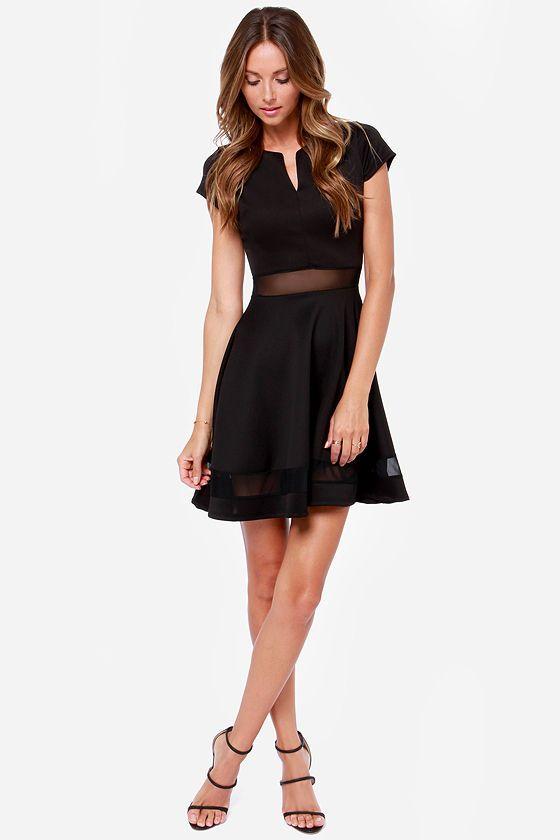 Mesh-issippi Queen Black Dress at Lulus.com!