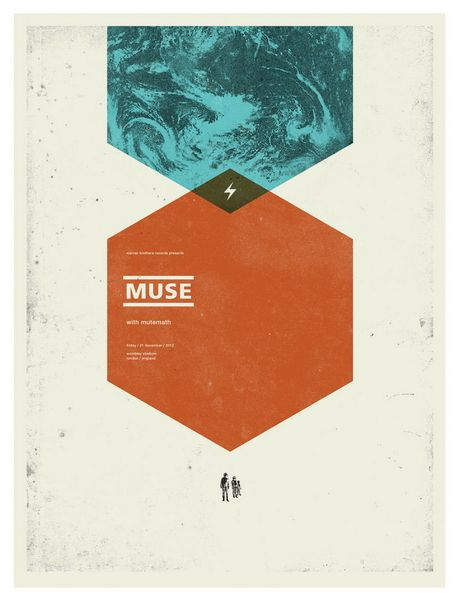 muse concert poster by concepcion studios cool band posters