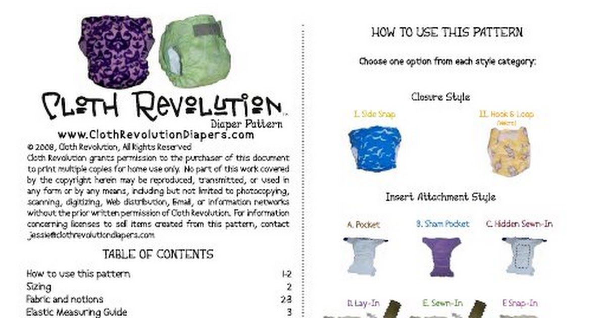 Cloth Revolution Diaper Pattern Instructions and Templates.pdf ...