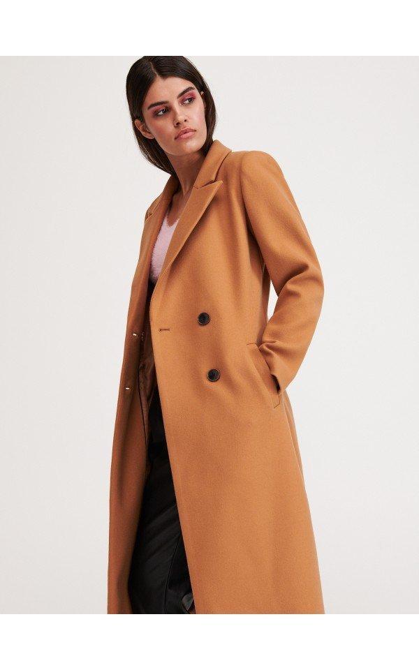 Dwurzedowy Plaszcz Kurtki Plaszcze Bomberki Bezowy Reserved Coat Coats For Women Jackets