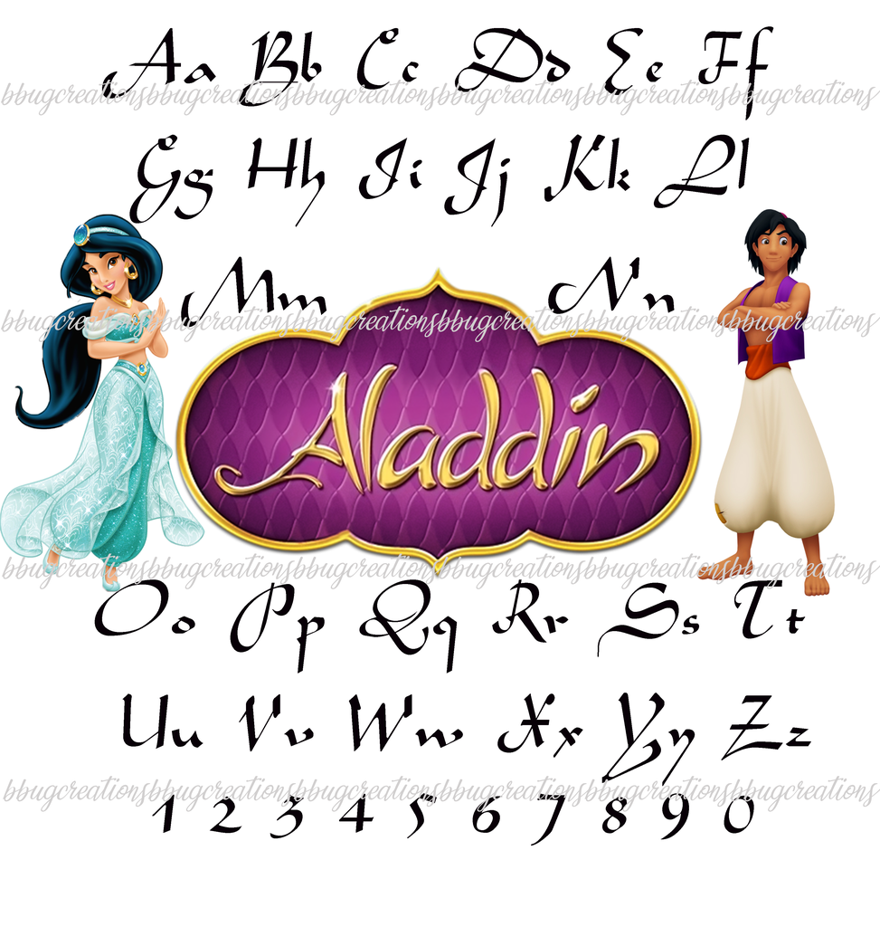 Aladdin Font 1 99 Aladdin Jasmine Font Birthday Boy Girl Costume Ironon Brother Clipart D Diy Birthday Banner Birthday Invitations Diy Birthday Diy