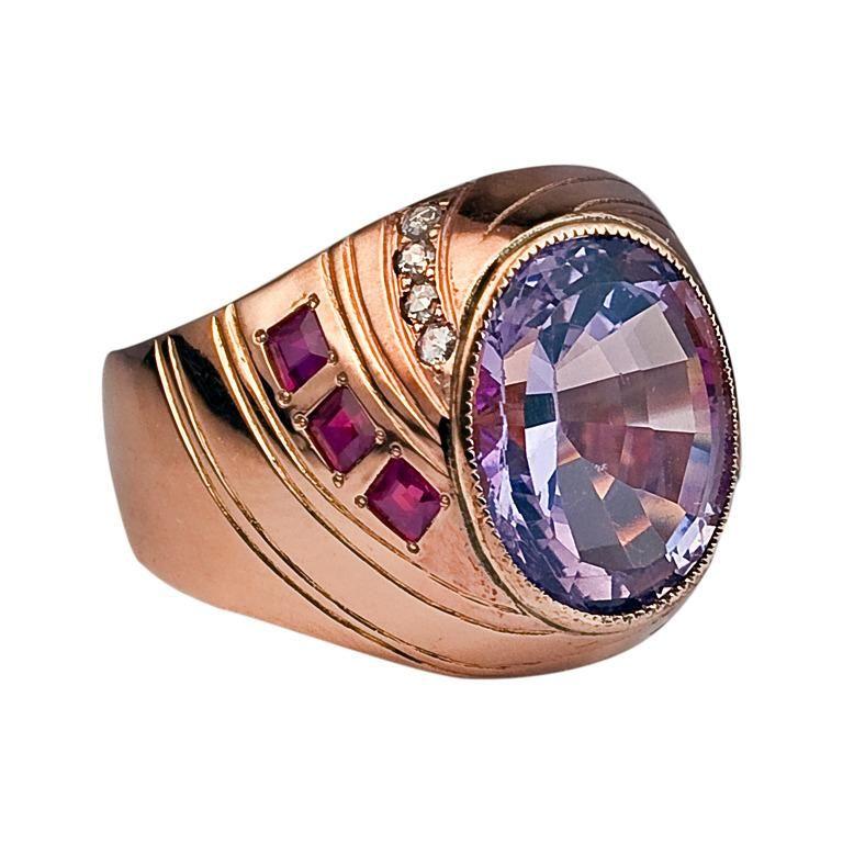 Antique Russian Amethyst Ring