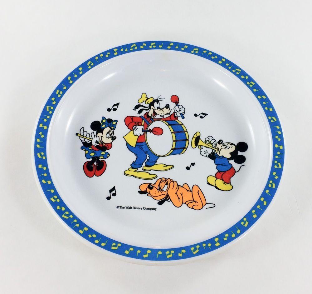 Melamine Childrens Plate Mickey u0026 Friends by Selandia  sc 1 st  Pinterest & Vintage Walt Disney Co. Melamine Childrens Plate Mickey u0026 Friends by ...