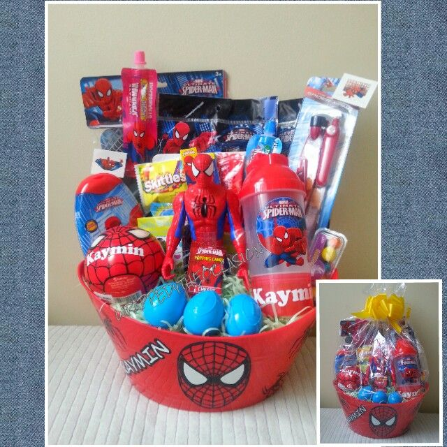 Christmas Gift Baskets For Kids.Spiderman Gift Basket Vinyl Fun Halloween Gift Baskets