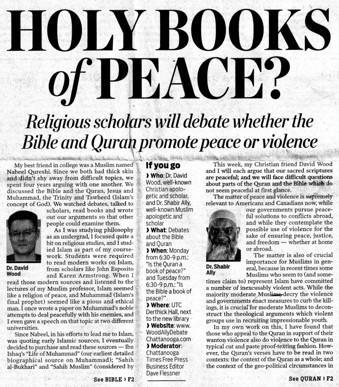 Messed Up Life Quotes: Answering Muslims: Holy Books Of Peace? David Wood And