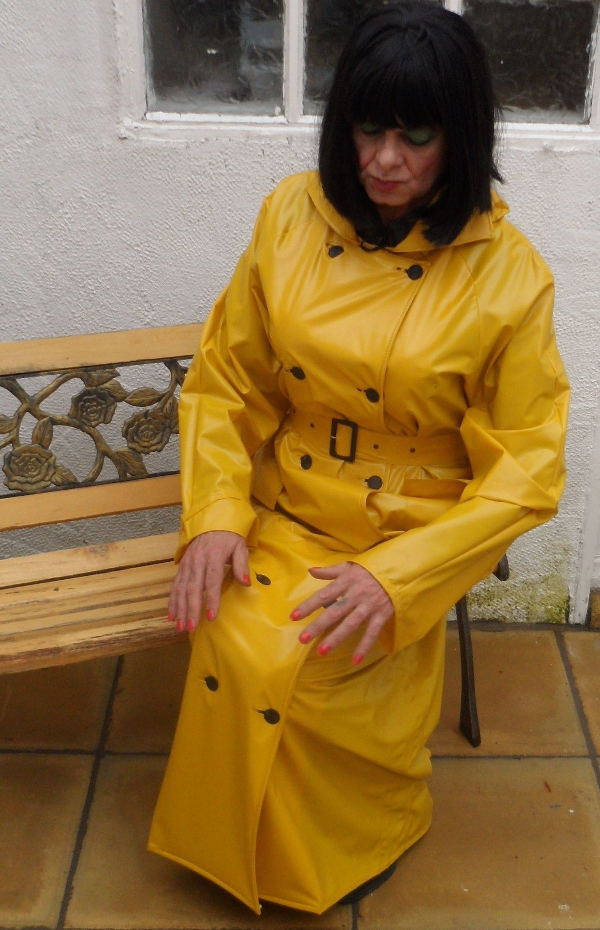 Wearing a Yellow Rubber Raincoat