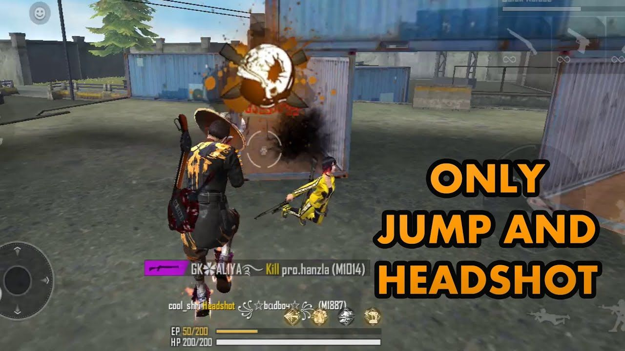 Free Fire Training Mode Only Jump And Headshot Free Fire Gameplay Fire Training Headshots Fire