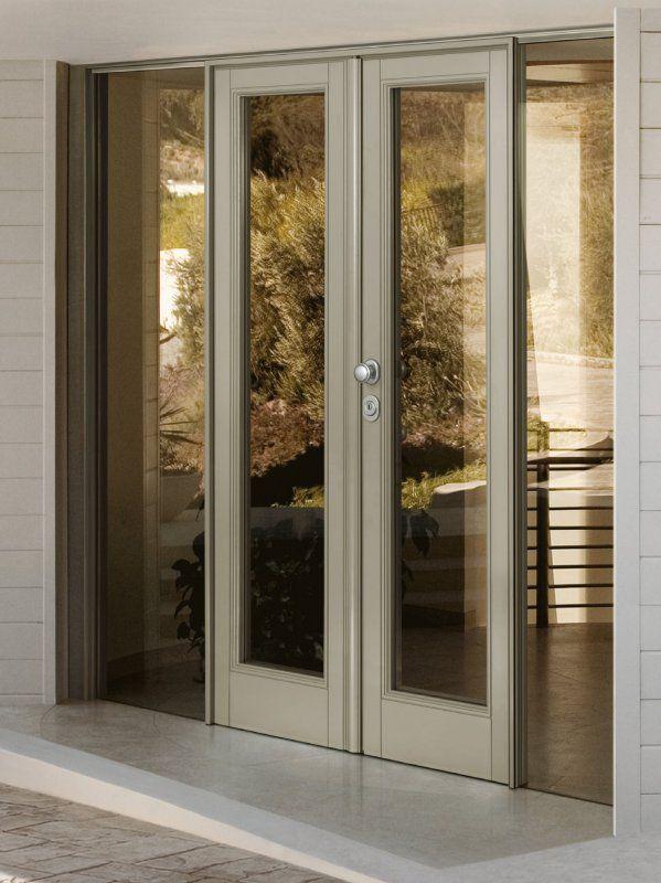 Dierre vitra porta di sicurezza con vetro camera a doppio battente studio e librerie - Porta a doppio battente ...