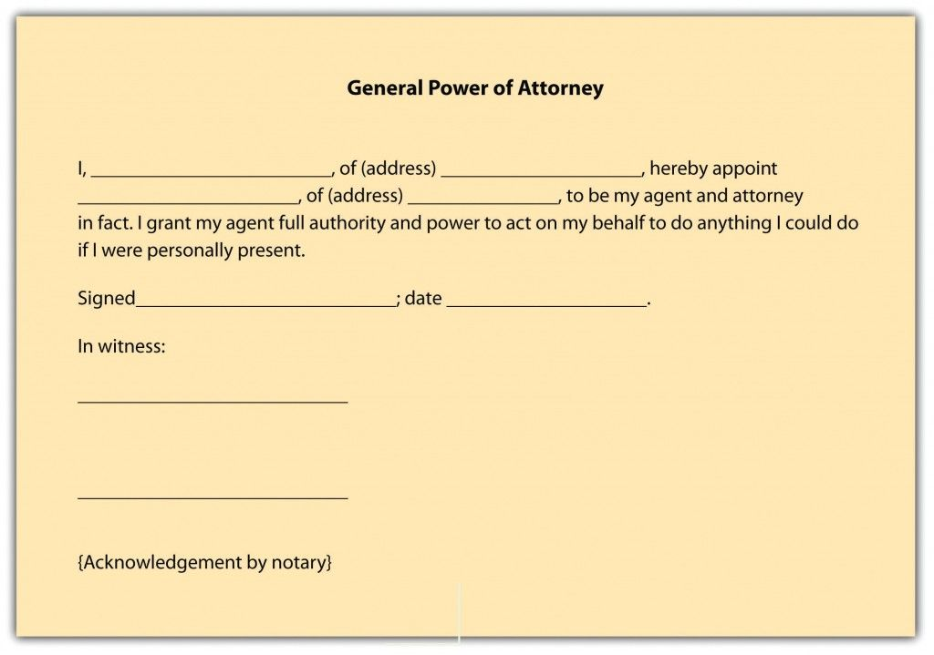 Printable Sample Power Of Attorney Form Free Printable Form Real - new sample letter notice vacate flat