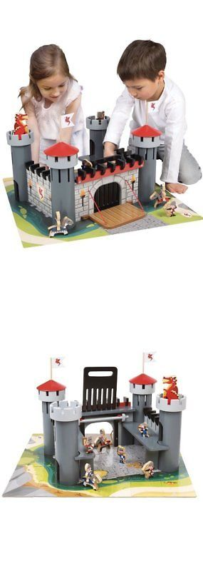 Wooden And Handcrafted Toys 1197 Alex Pretend Wooden Dragon Castle