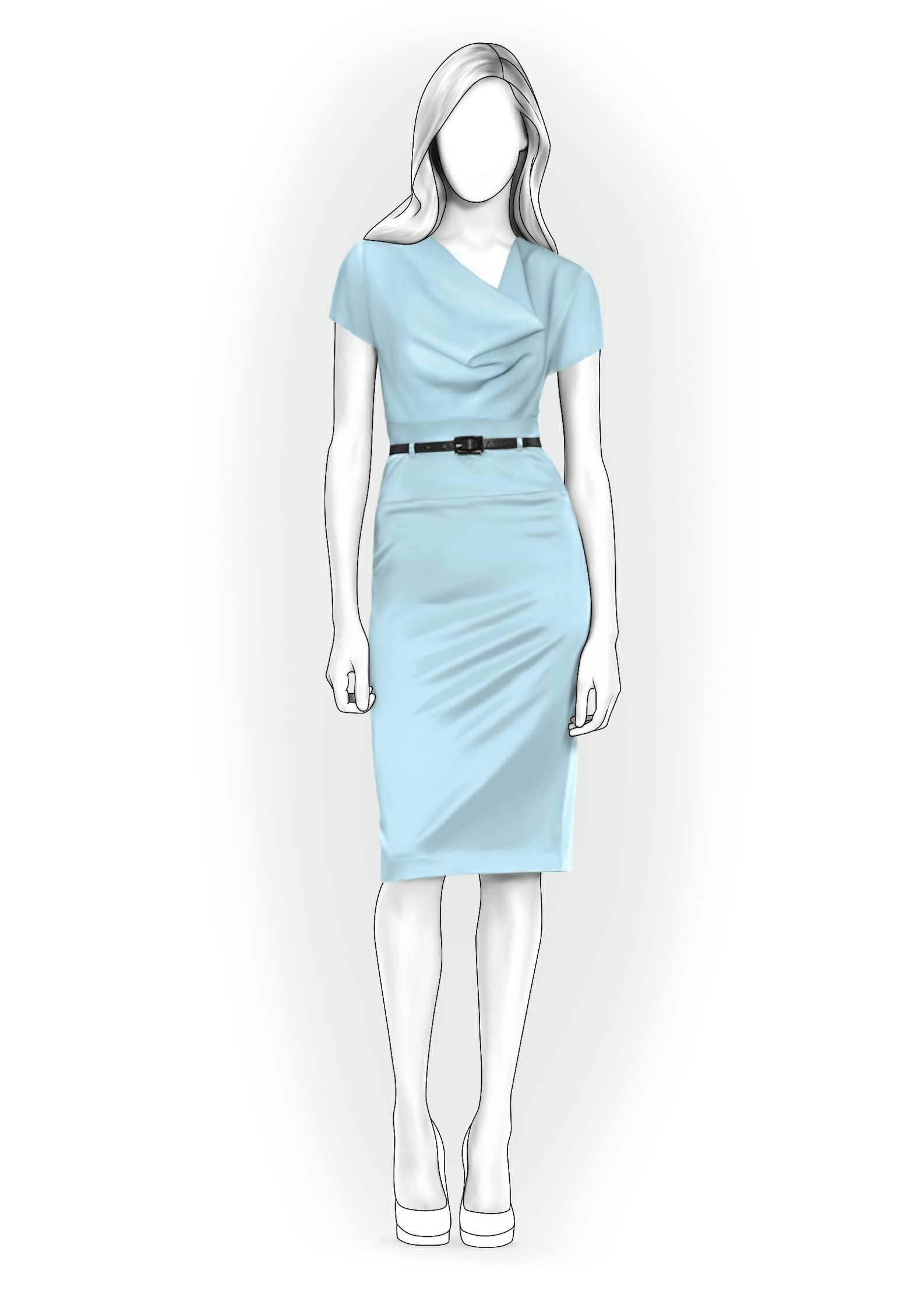 Dress - Sewing Pattern #4004. Made-to-measure sewing pattern from ...