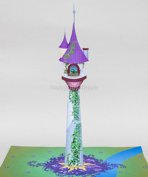 SALE!! 3D Tangled Tower Party Centerpiece, Rapunzel Party centerpiece, Printable for Tangled party.