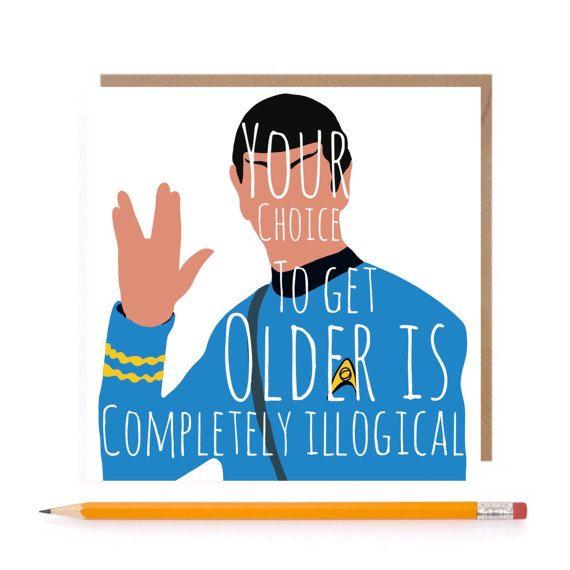 Star Trek Spock Card Spock Birthday Card Star Trek By Theginfox Funny Birthday Cards Star Trek Birthday Happy Birthday Dad