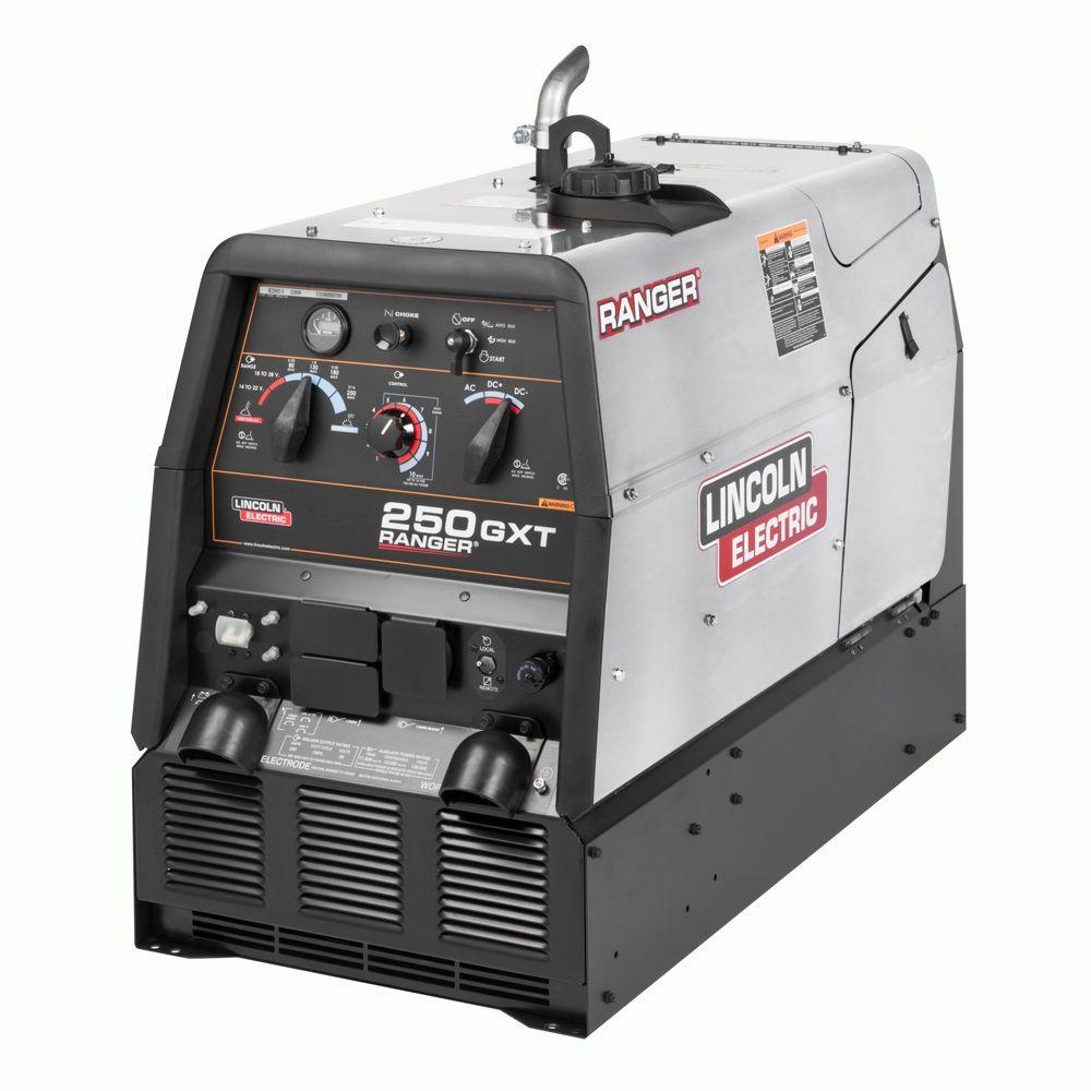 Lincoln Electric 250 Amp Ranger 250 Gxt Gas Engine Driven Ac Dc Multi Porcess Welder W Stainless Case 11 Kw Peak Generator Kohler K2382 5 The Home Depot Welder Generator Welders Ranger