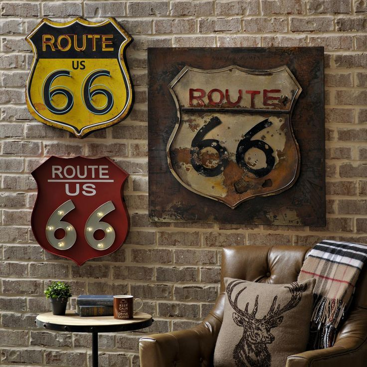 Fabulous Old Fashioned Route 66 Wall Decor Elaboration - Wall Painting  WU93
