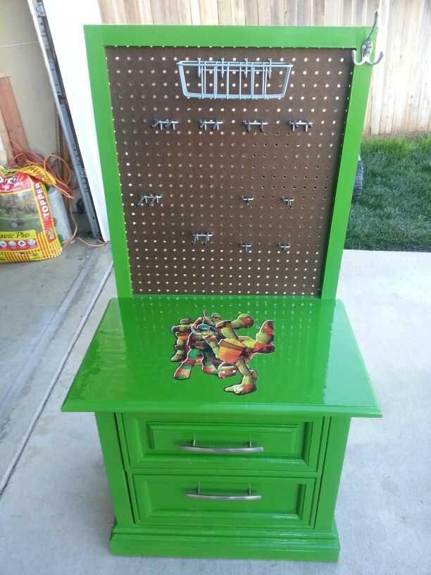 kids workbench using old nightstand repurposed furniture on fantastic repurposed furniture projects ideas in time for father s day id=76279