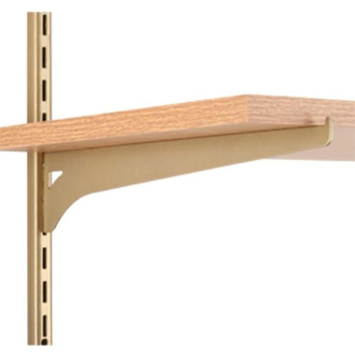 12 Gold Tone Single Track Wood Shelf Bracket Wood Shelf Brackets Shelving Hardware Wood Shelves