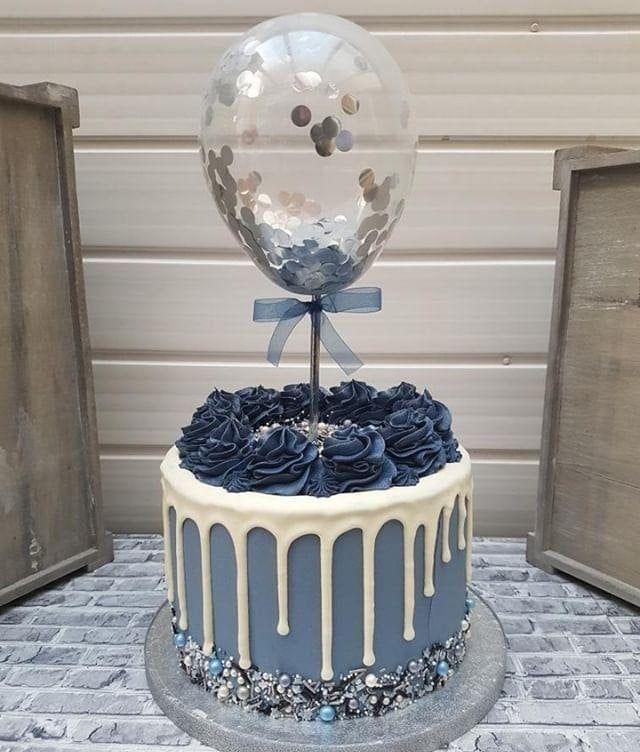 """Ballon Cake Topper Konfetti 5 """"Party Geburtstag Hochzeit Hen Baby Shower Engagement - Kuchen Design - #Baby #Ballon #Kuchen #Verlobung #Geburt"""