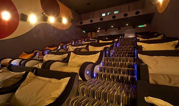 Cool Movie Theater With Couches Awesome Movie Theater With
