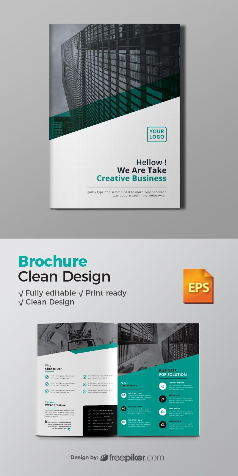 Corporate Bi Fold Brochure Corporate Brochure Design Graphic Design Brochure Booklet Design