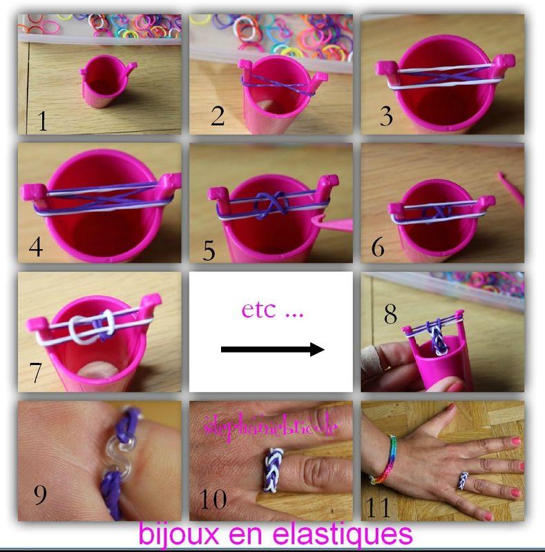 tuto diy comment faire des bracelets avec des lastiques perles lastiques rainbow. Black Bedroom Furniture Sets. Home Design Ideas