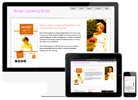 Mobile responsive author website template