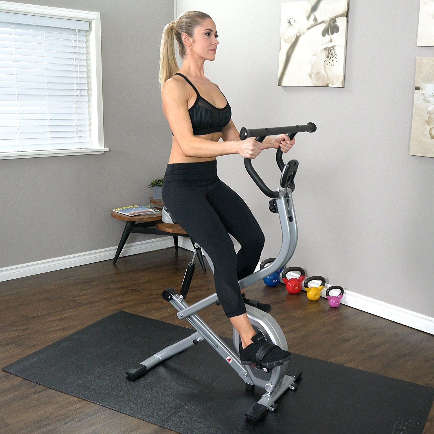 Sunny Health Fitness B2620 2 In 1 Rowing Machine Exercise Bike Bike Fitness Rowing